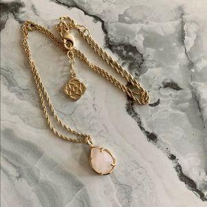 Kendra Scott Light Pink & Gold Necklace